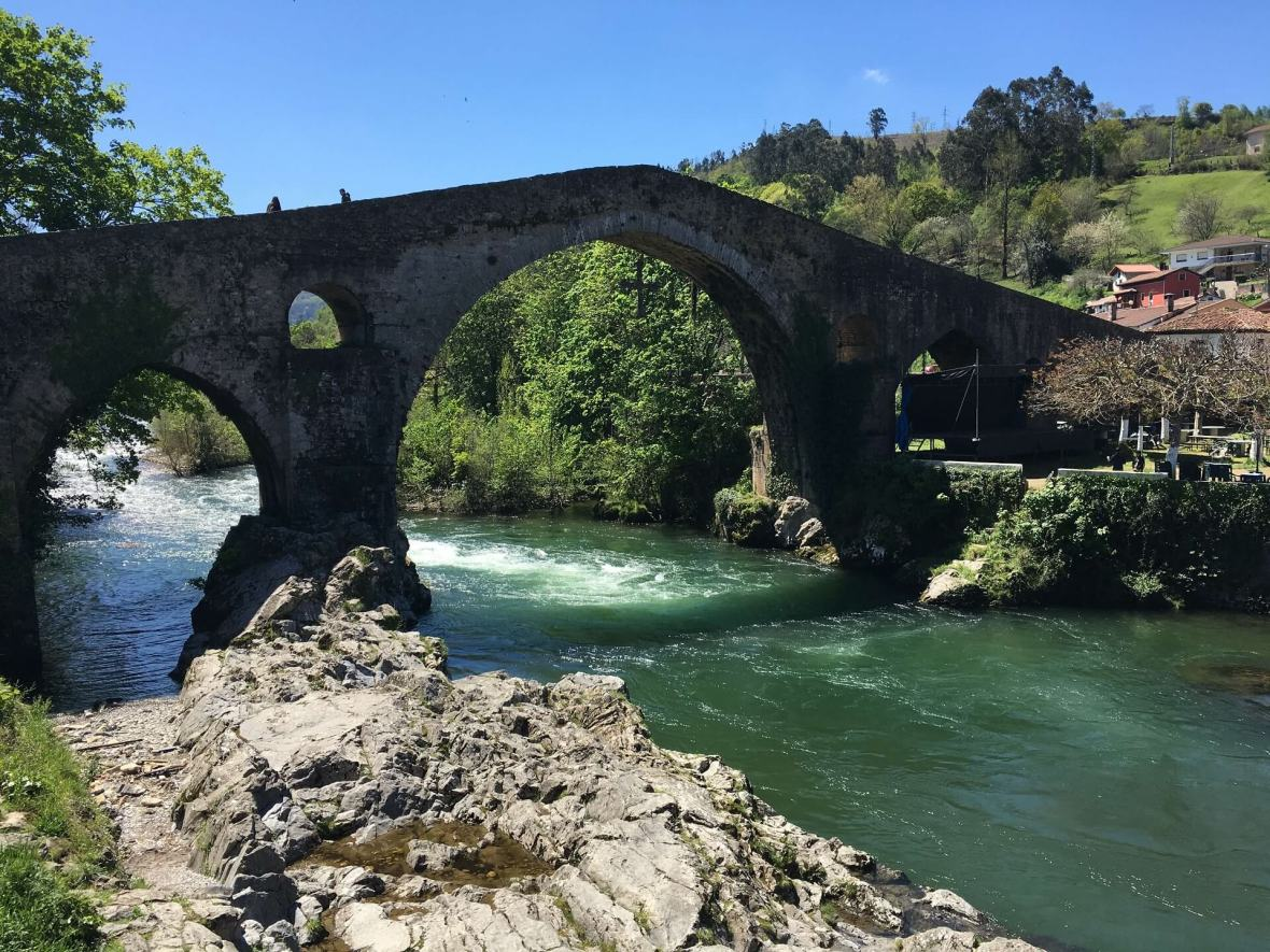 Cangas Roman bridge in Asturias