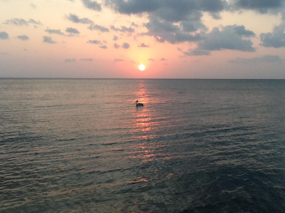 Sunset on a Mozambique beach.