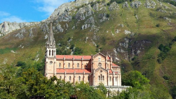 Covadonga church in Asturias