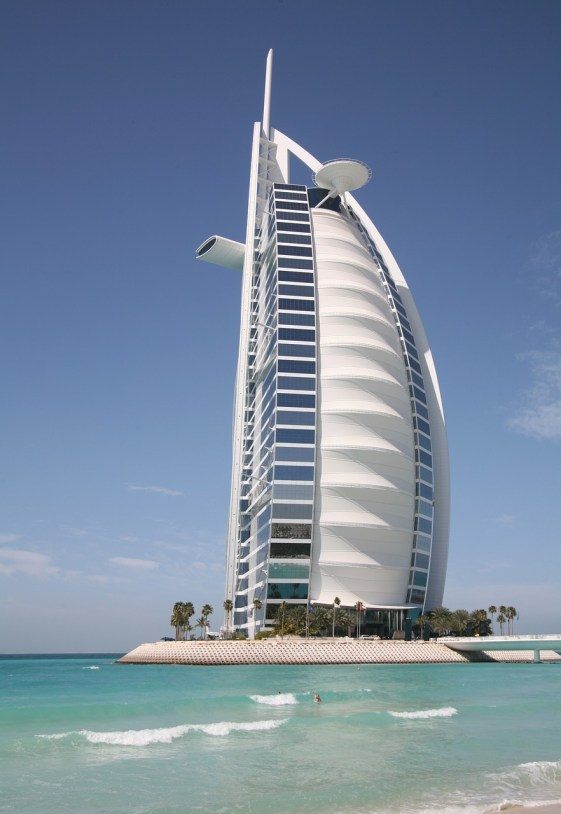 Burj Al Arab, luxury hotel, in Dubai