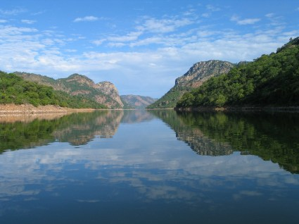 Beautiful river deep in Mozambique