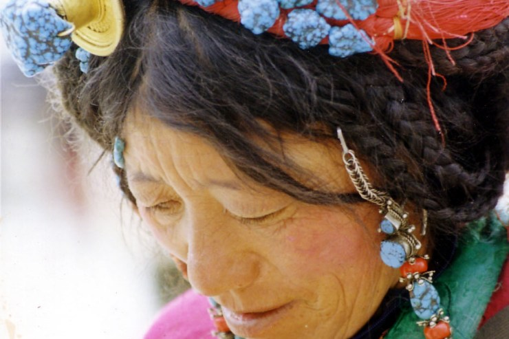 Tibetan woman in Lhasa, Tibet