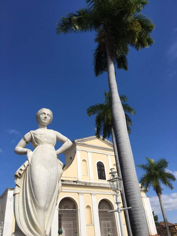 The cathedral in the main square in Trinidad, Cuba