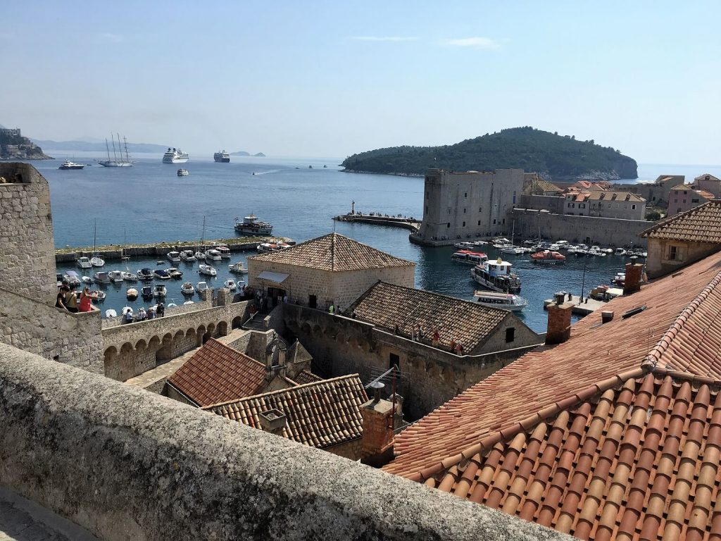 View from the wall surrounding Dubrovnik