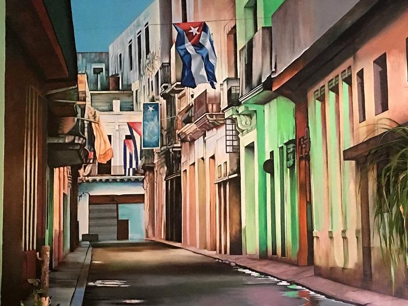 Amor Cubano's murala showcase Cuban artists.