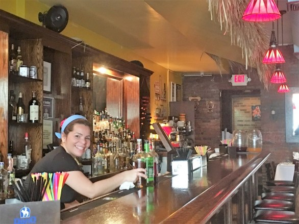 Bar at Amor Cubano, Cuban restaurant.