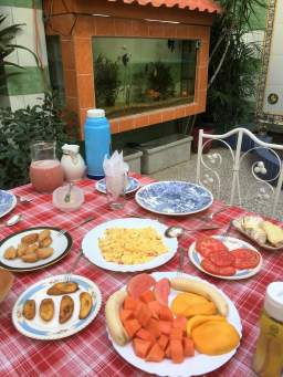 Santiago Breakfast at a casa particular.