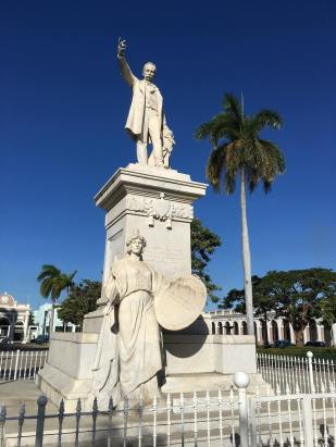 Jose Marti statue in Cienguegos.
