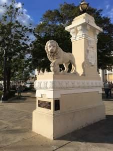Entrance to Jose Marti park in Cienfuegos.