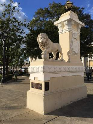 Entrance to Jose Marti park in Cienfuegos.