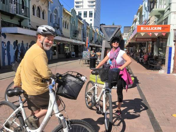 Biking through Christchurch