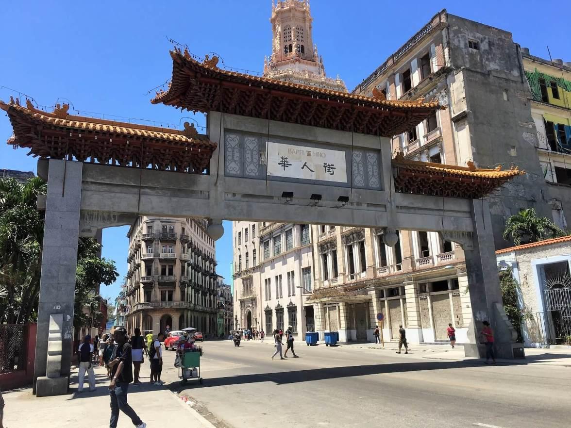 Gate to Chinatown in Hidden Havana
