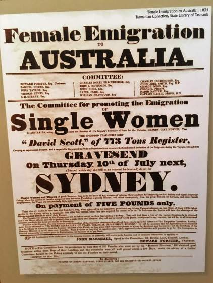 Historic poster, Tasmania