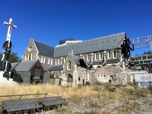 Old cathedral in Christchurch