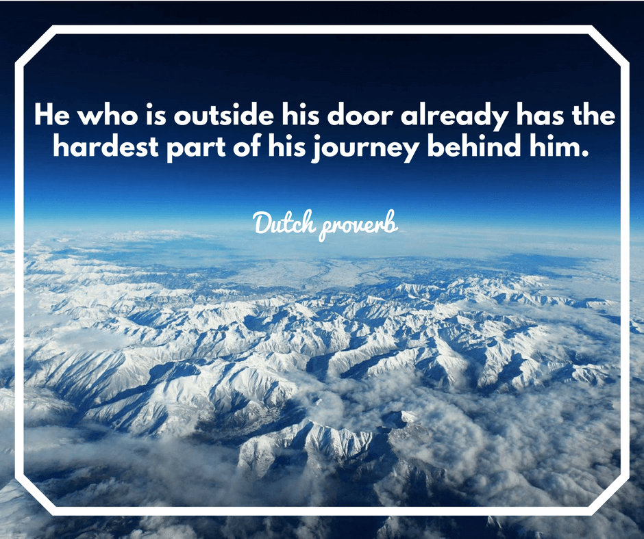 Travel quote, Take that first step.