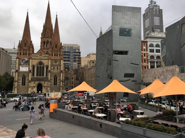 Head to Federation Square. a reason to visit Melbourne.