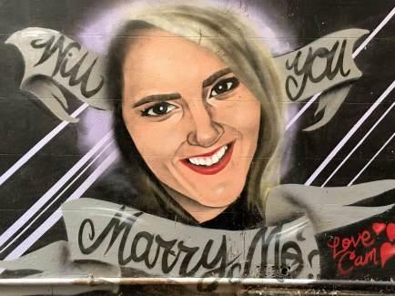 Marry me street art in Melbourne