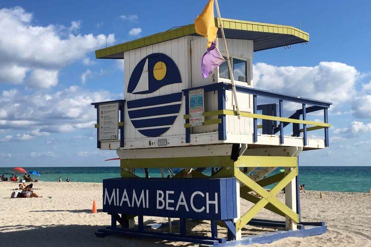 Lifeguard perch on South Beach
