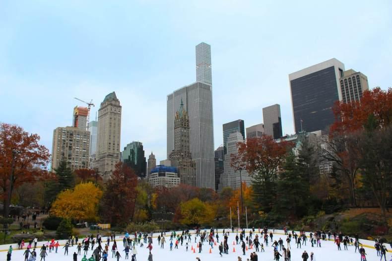 Skating Central Park in New York City