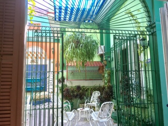 gate leading to the patio in a Cuban casa particular
