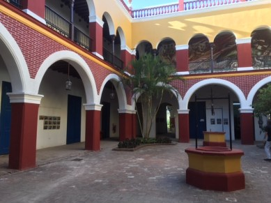 Holguin interior patio is typical of Cuban towns