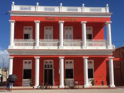 Gibara's Arsenita Hotel. Typical in Cuban towns