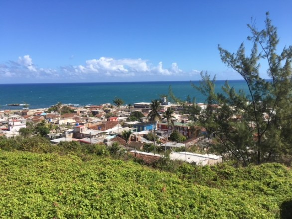 View of Gibara, on eof the Cuban towns, from a mountain top
