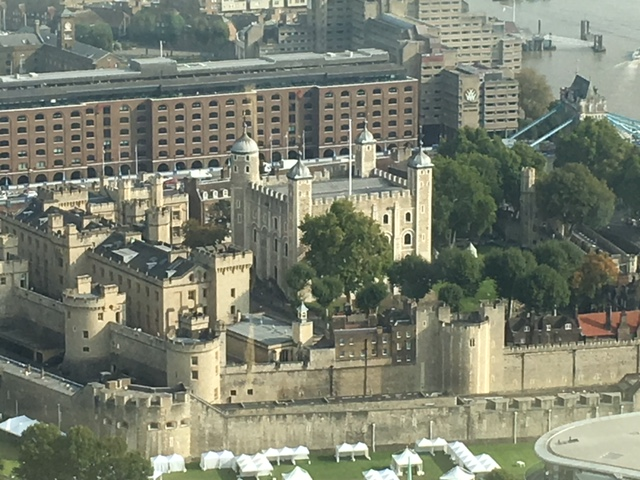 The Tower of London from the Eye in Southbank