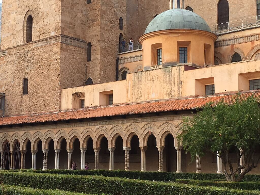 Monreale cloister on the southern Italy road trip