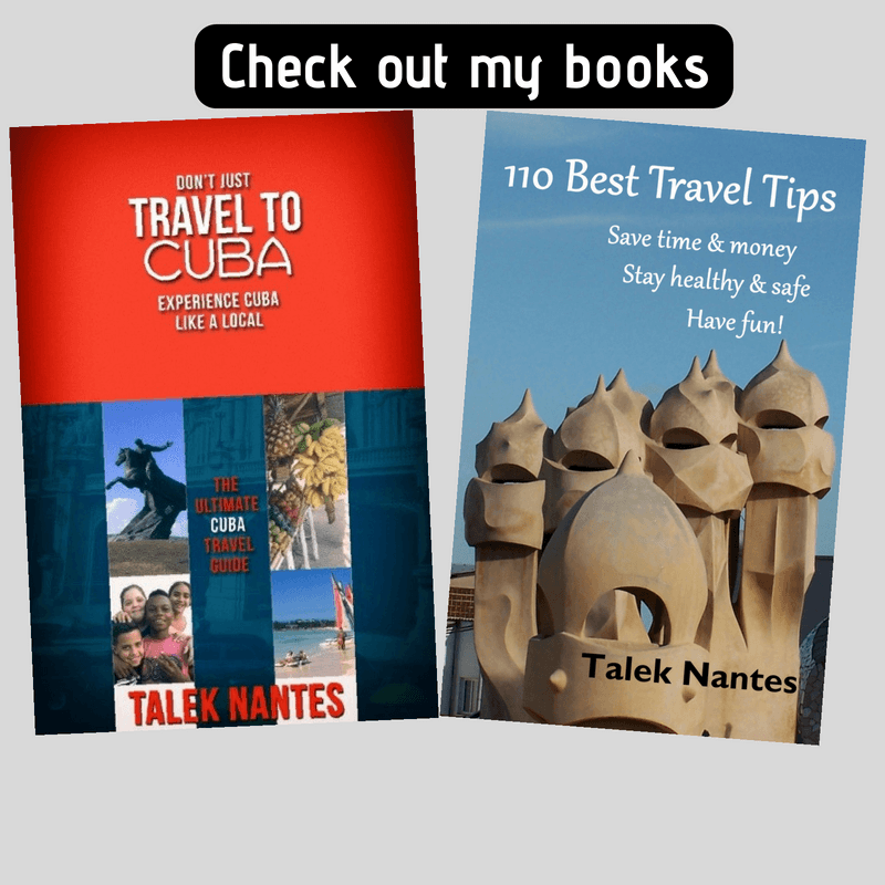 Book covers on Cuba and Travel Tips