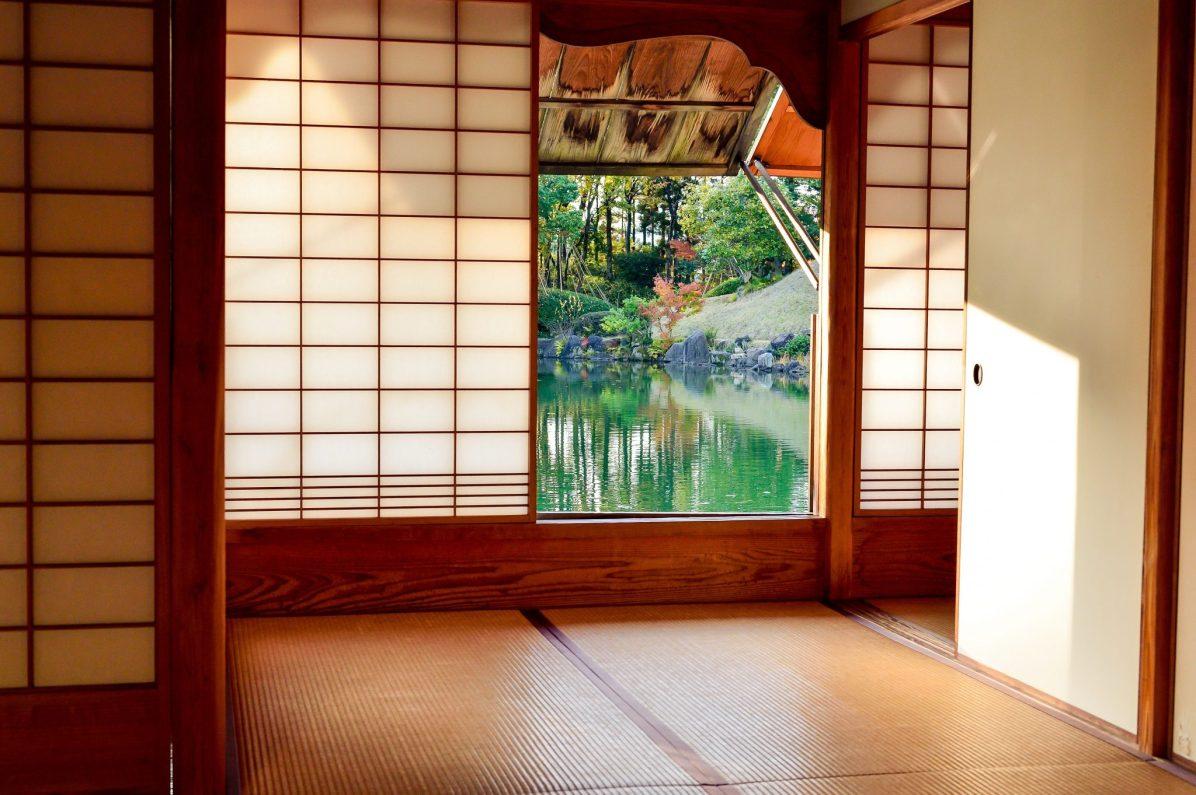 bedding at a ryokan onsen