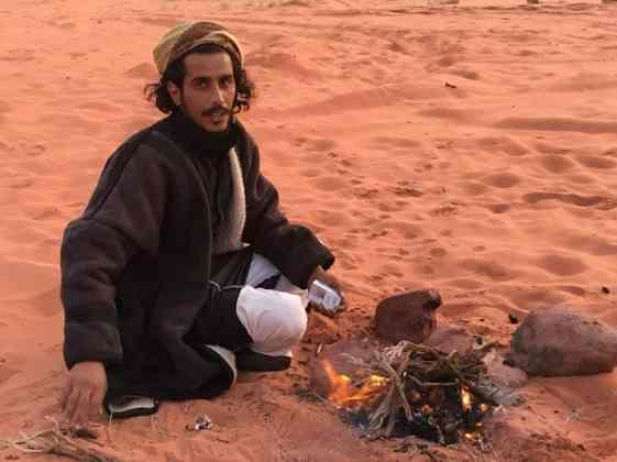 Bedouin in desert camp