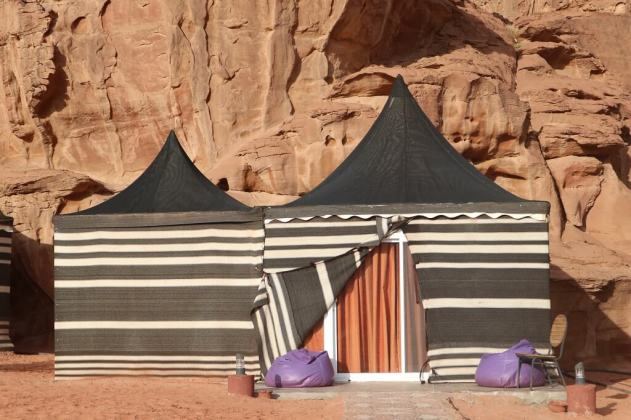 Tents at Wadi Rum camp