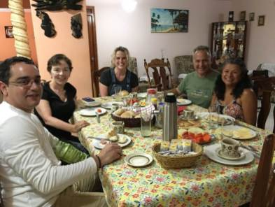 Breakfast on the Cuba cultural tour