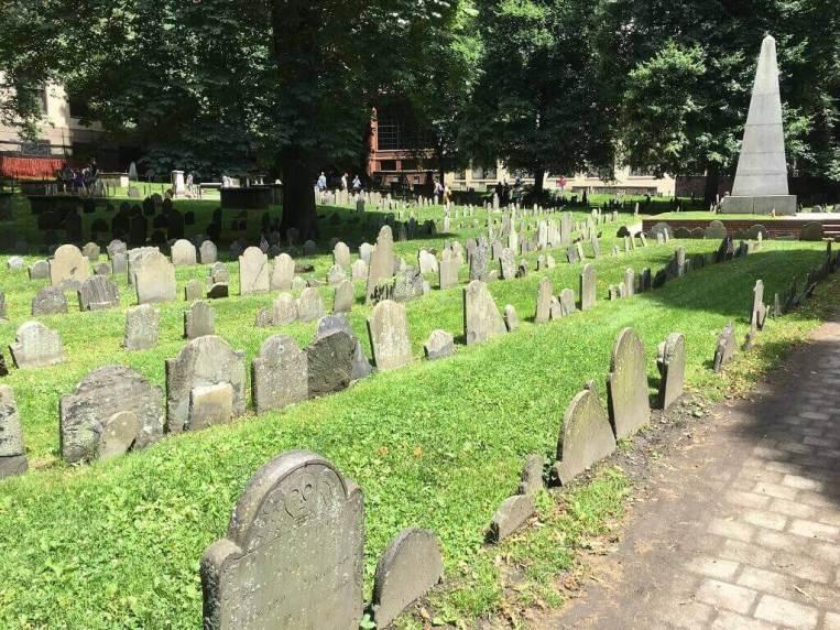 Granary Burial Ground in Boston