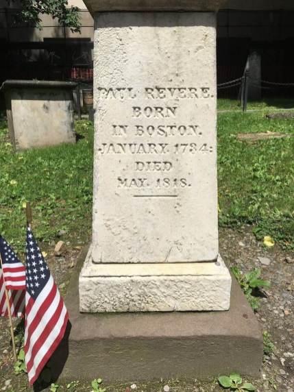 Paul Revere's tomb in Granary Burying Ground