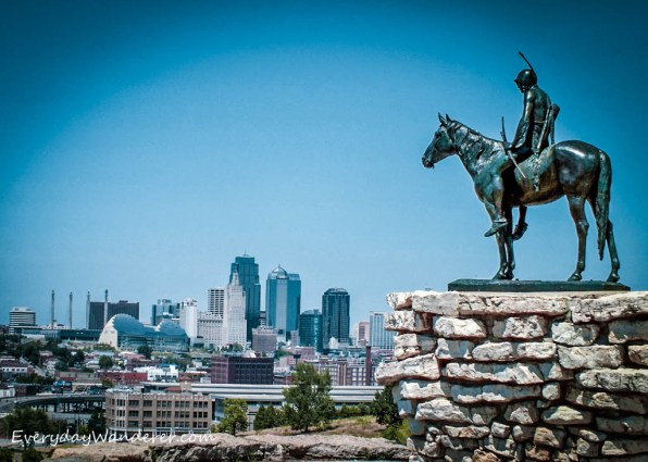 The Scout is a 10-foot statue of a Sioux Indian on horseback with one of the best views of the city.