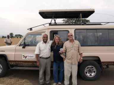 With Samson, our safari guide.