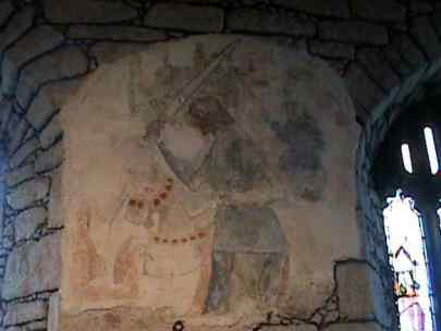 St George slaying the dragon, Zennor Church
