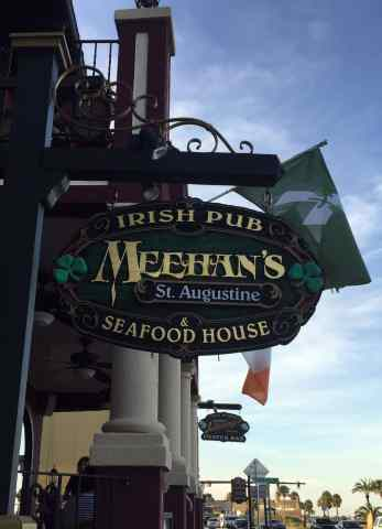 Meehans, Irish, Irish Pub, st augustine