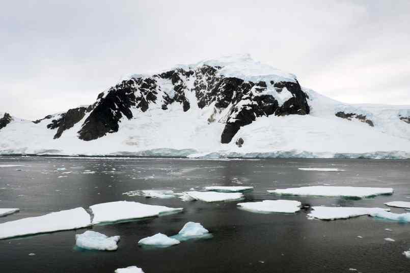Antarctica, Icebergs, Penguins