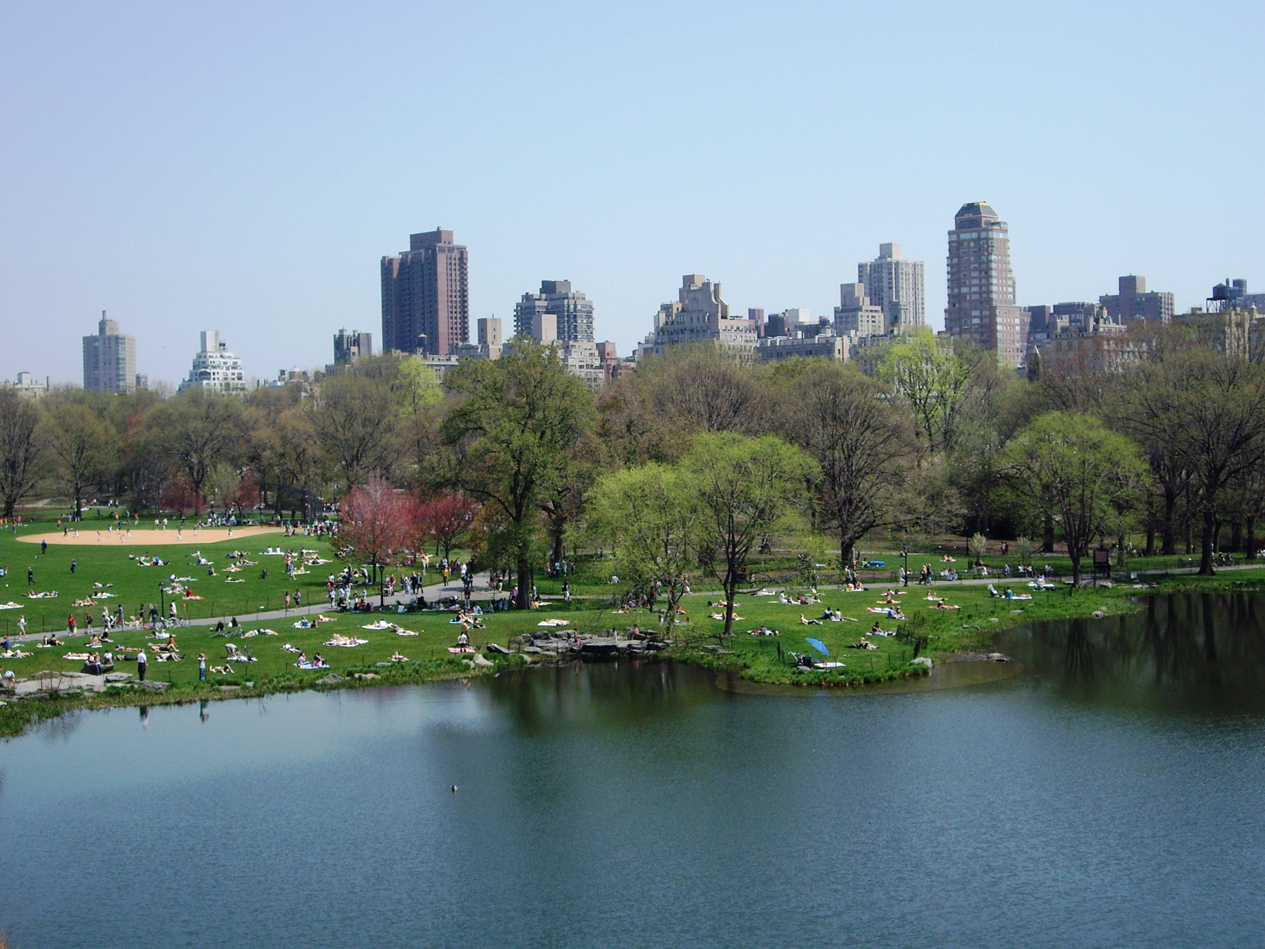 NE View of Central Park from Belvedere Castle