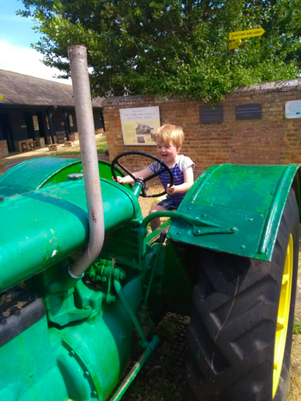 Driving a Tractor at the Fenland Farming Museum