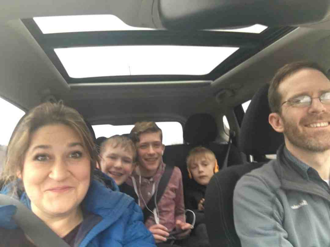 Family car ride