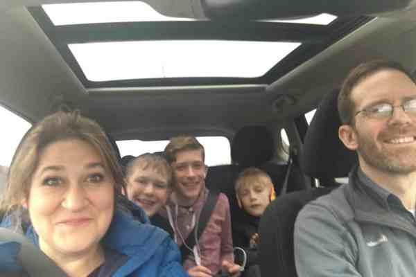 Family car ride