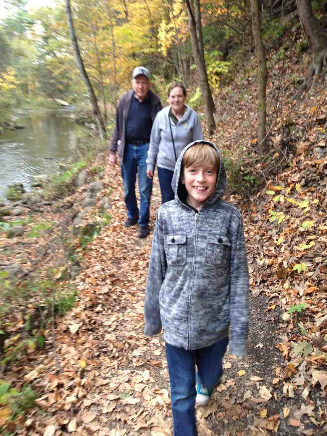 walk in Saratoga Spring State Park in the fall
