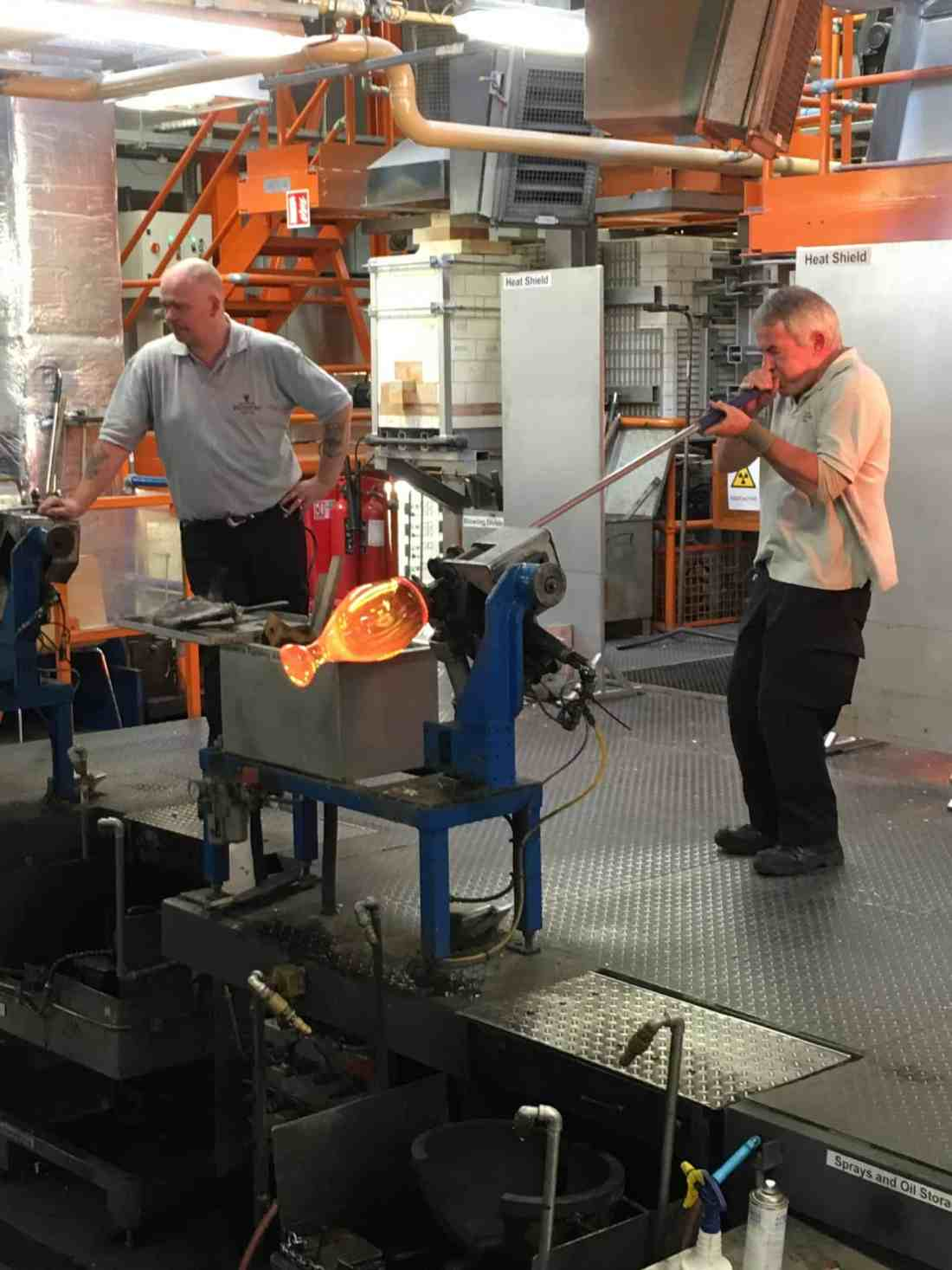 Glass blowing Waterford crystal