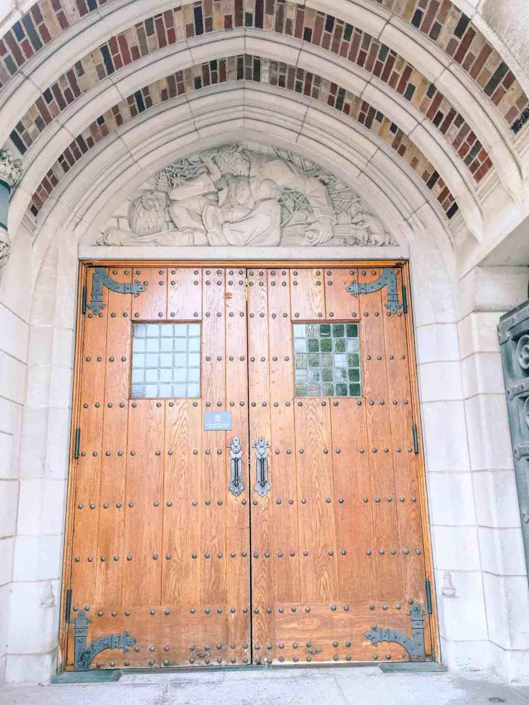 yale architecture door scuplutre