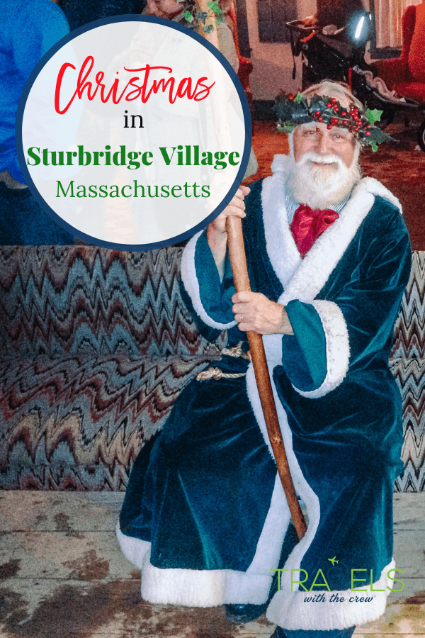 Christmas by Candlelight at Sturbridge Village Massachusetts is a family event for all ages. Visit a living history museum decked out for the holidays and learn about Christmas at the birth of the United States. #sturbridgevillage #christmasevents #newenglandchristmas #newenglandchristmasevents