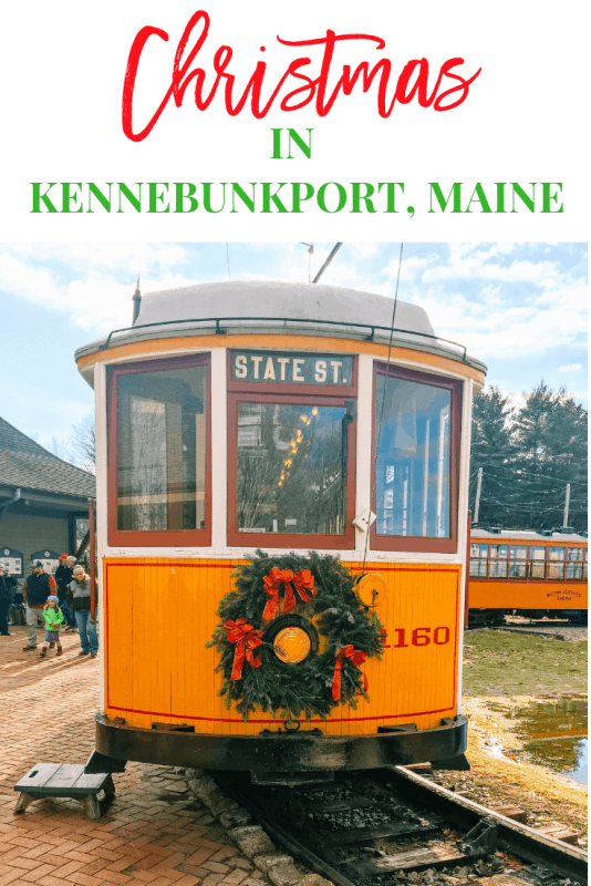 Christmas Prelude in Kennebunkport Maine is one of the best Christmas festivals in the United States. Watch Santa come to town on a Lobster boats, Christmas hat parade, caroling and more. #kennebunkportchirstmas #christmasinnewengland #christmasfestivals